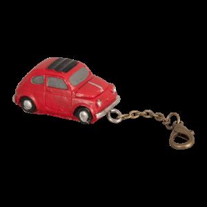 Fiat 500 sleutelhanger rood