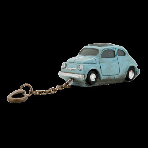Sleutelhanger Fiat 500 blauw
