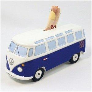 Volkswagen T1 bus klassiek blauwe spaarpot