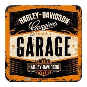 Harley Davidson Garage Onderzetters set