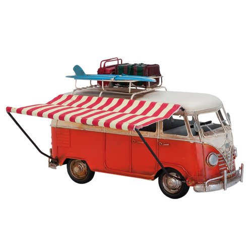 Metalen model bus rood