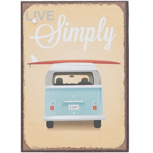 VW bus Live Simply Magneet