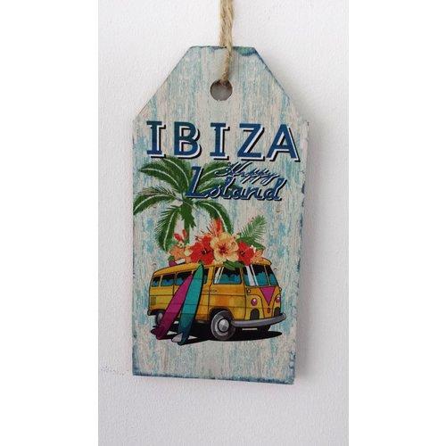 Ibiza Happy Loland bus houten tekstbord small