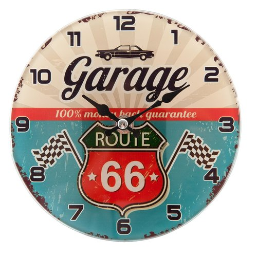 Garage Route 66 klok