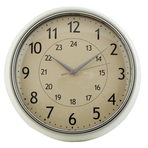 Vintage ronde klok creme