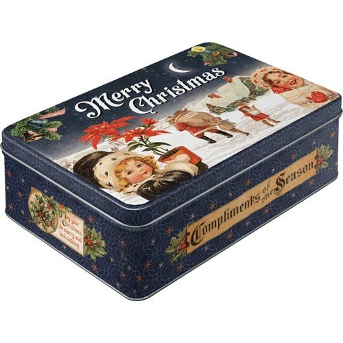 Merry Christmas 3 delig metalen box Set