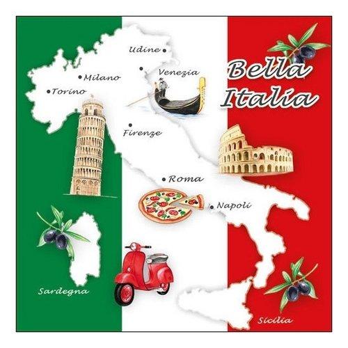 Bella Italia papieren servetten 33x33 cm