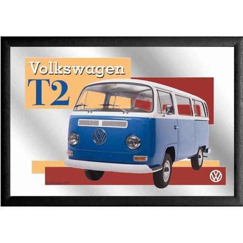 VW Spiegel Blauwe Bulli T2