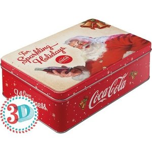 Coca-Cola 3D metalen box For Sparking Holidays