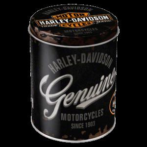 Harley-Davidson Genuine metalen ronde box