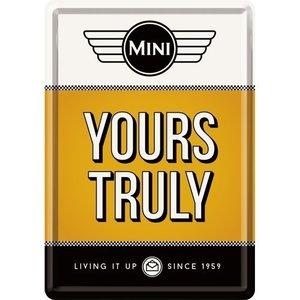 Mini Yours Truly metalen postcart