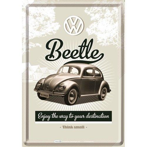 VW Beetle Retro postcard