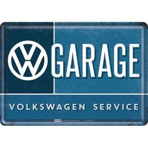 VW Garage metalen postkaart