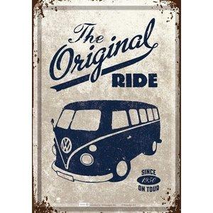 VW T1 Buli the Original Ride metalen postkaart