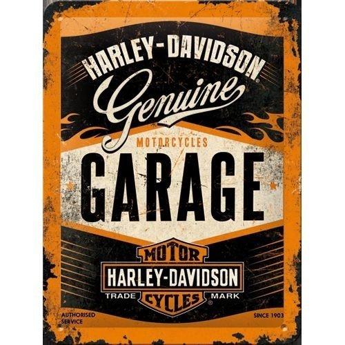 Harley Davidson Genuine Garage metalen plaat 15x20 cm
