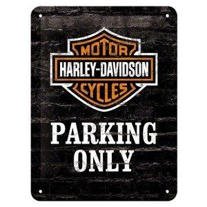 Harley Davidson Parking Only metalen kaart 20x15 cm