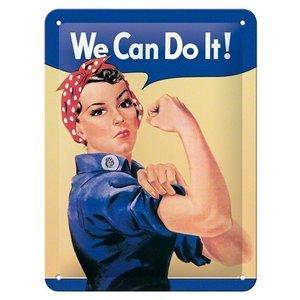 We Can Do it! metalen plaat 20x15 cm