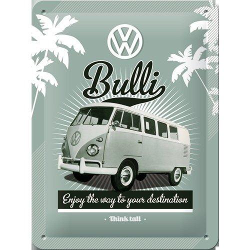 VW Bully Think Tall metalen plaat 15x20 cm