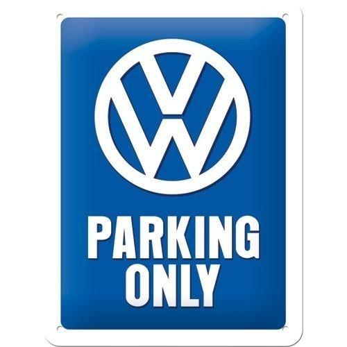 Volkswagen Parking Only metalen plaat 20x15 cm