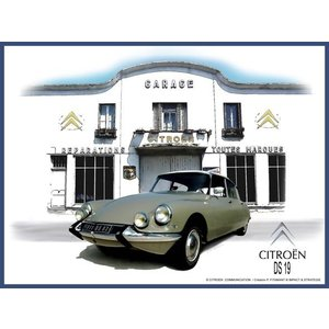 Citroën DS19 garage wanddecoratie 20x30 cm