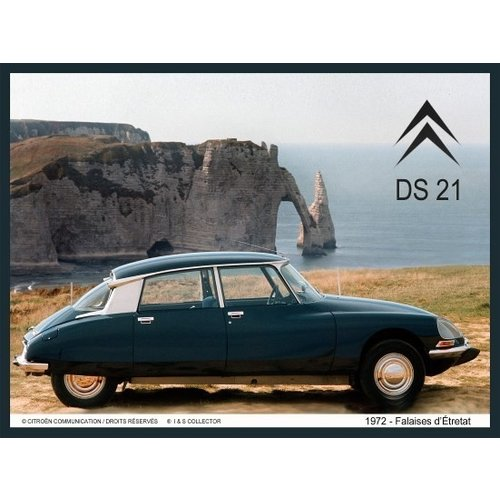 Citroën DS21 1972 Mer wanddecoratie 20x30 cm