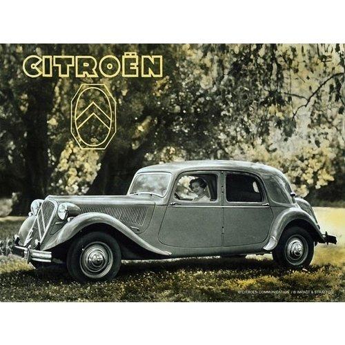 Citroën Traction Parc wanddecoratie 20x30 cm
