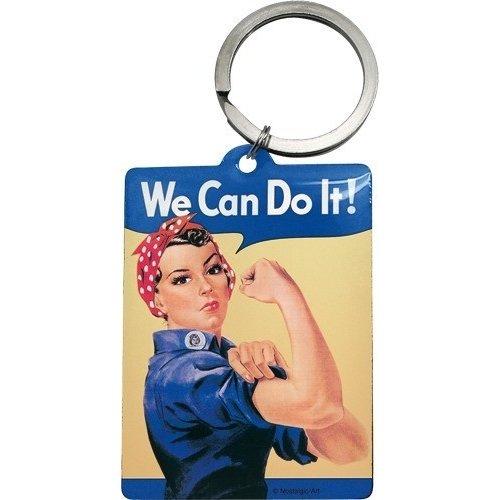 Sleutelhanger We can do it 6x4,5 cm