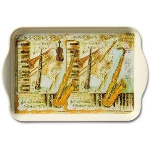 Dienblad met muzikale instrumenten 13x21 cm
