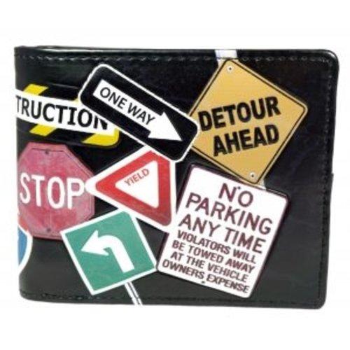 Compacte heren portemonnee Street Signs