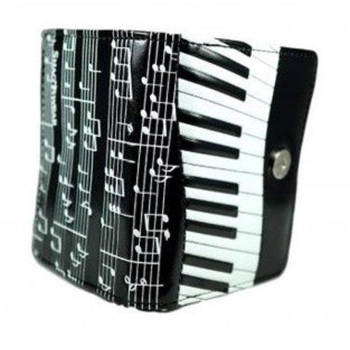 Compacte zwarte dames portemonnee Piano Symphony