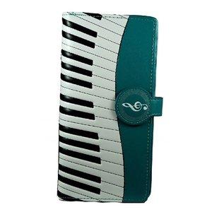 Grote groene damesportemonnee Piano Symphony