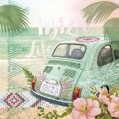 Fiat 500 Ibiza Life papieren servetten