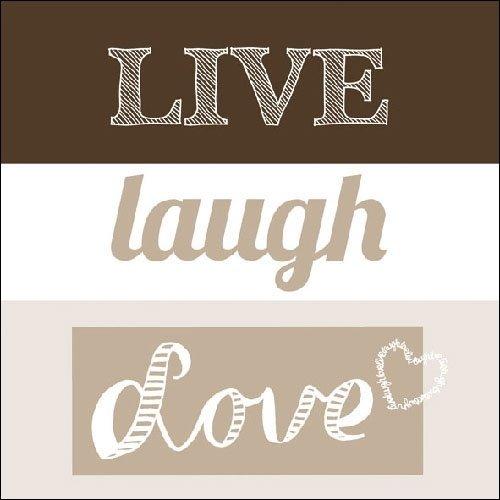 Live, Laugh, Love papieren servetten