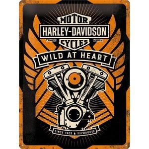 Harley Davidson Wild at Heart metalen wandplaat 30x40