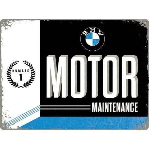 BMW Motor Maintenance metalen wandplaat 40x30