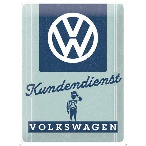 Volkswagen Kundendienst metalen wandplaat 30x40 cm