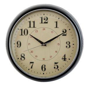 Vintage zwarte ronde klok