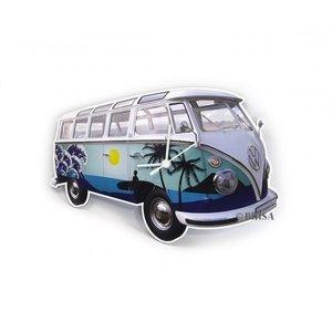 Volkswagen klassieke T1 blauwe surf wandklok