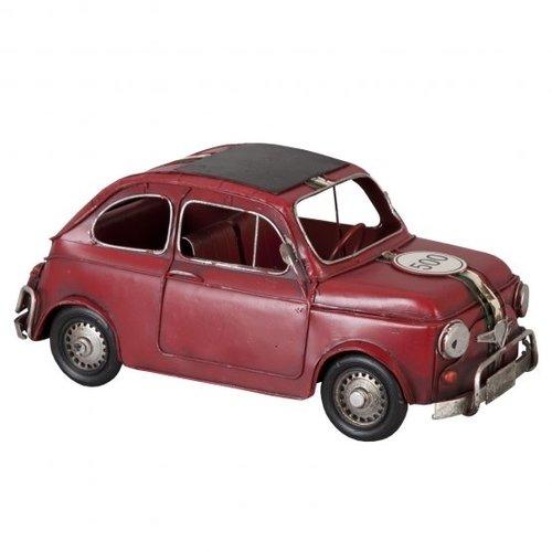 FIAT 500 metalen miniatuurauto met Italiaanse vlag