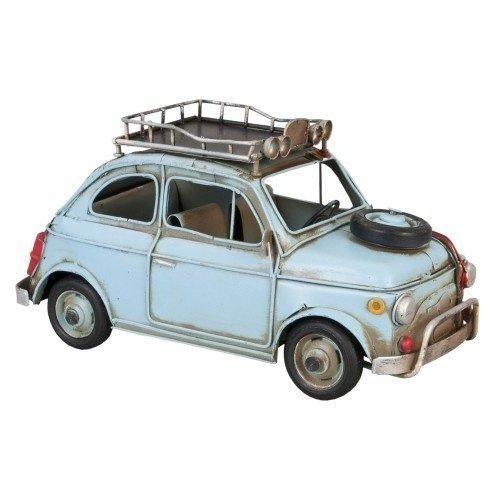 Fiat 500 metalen miniatuurauto met dakrek