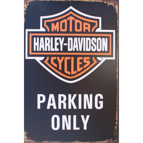 Harley-Davidson - Parking Only metalen wandplaat 20x30