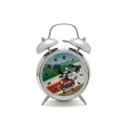 Fiat 500 Retro Alarm Clock Tricolor