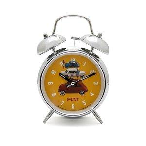 Fiat 500 Retro Alarm Clock Campane Yellow
