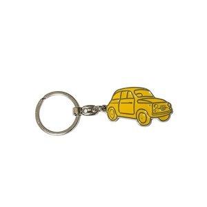 Fiat 500 sleutelhanger geel