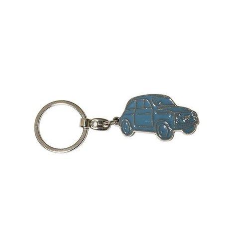 Fiat 500 sleutelhanger blauw