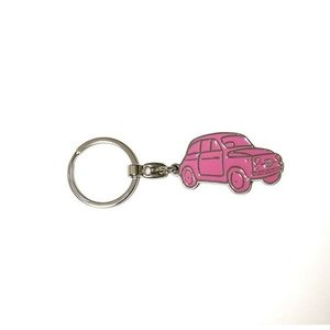 Fiat 500 sleutelhanger roze