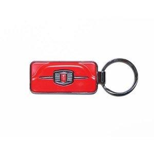 Fiat 500F sleutelhanger rood