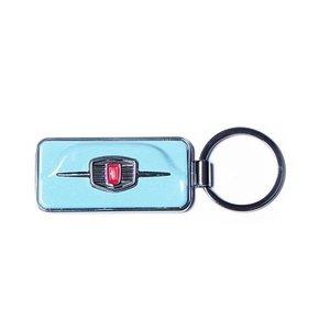 Fiat 500F sleutelhanger licht blauw
