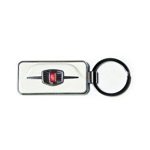 Fiat 500F sleutelhanger wit