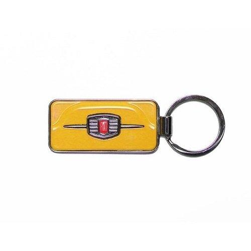 Fiat 500F sleutelhanger geel